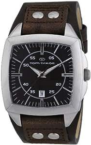 TOM TAILOR Herren-Armbanduhr Analog Quarz Leder 5409101