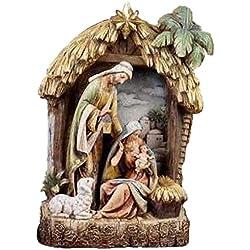 Napco Heiligen Familie in Krippe Weihnachten Dekoration Figur