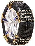 LOOMBNB Cadenas de Nieve para automóviles, neumáticos para automóviles Cadena de Nieve Vehículo Todoterreno SUV Ajuste automático Universal, 8 Piezas