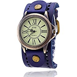 Vintage Cow Leather Bracelet Watch Women Wrist Watch Casual Luxury Quartz Watch 2016 Hot Selling