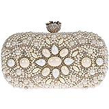 KAXIDY Pochette Tracolla Borse Eleganti Borse Tracolla per Matrimonio Partito Festa Vacanza (Champagne)