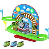 #5: Kiditos Plastic Electronic Components Thomas and Friends Battery Operated Magic Magnetic Train Track Racer Set, 37x19x22cm (Multicolour)