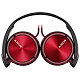 Sony MDRZX310 Foldable Headphones - Metallic Red from Sony