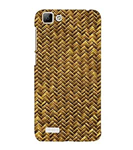 Takkloo Wooden pattern ( abstract pattern, brown shade pattern, nice pattern) Printed Designer Back Case Cover for Vivo V1