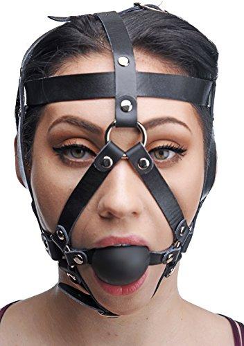 Kopfgeschirr, Leder, mit Ball-Mundknebel