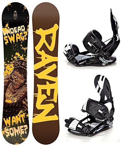 Snowboard Set: Snowboard Raven Swag Gullwing + Bindung Raven s250 Black L
