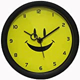 ROYSTAR Smiley Analog Wall Clock For Kids (18 Cm X 18 Cm) Dial - 7 Cm