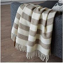 03a1cfcae27 Amazon.fr   couverture laine - Marron