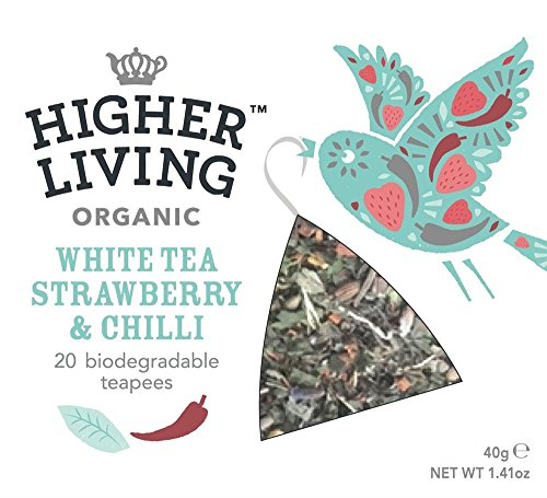 Higher Living White Strawberry & Chilli Teapees 20 bags