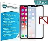 "Slabo Lámina de Vidrio PREMIUM iPhone X FULL COVER Lámina protectora protector de pantalla templado ""Tempered Glass"" CLARO - dureza 9H"