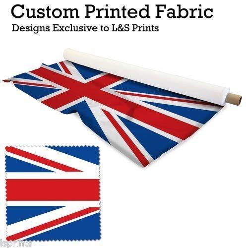 Stretch-union (1Union Jack Meterware Design Digital Print Lycra 2Wege Stretch Polyester bedruckter Stoff 149,9cm Breite hergestellt in Yorkshire)