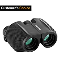 High Powered 10x25 Binoculars,SGODDE Compact Folding Binoculars,Vision Clear Bird Watching, Waterproof Great for Outdoor Hiking,Shooting, Travelling, Sightseeing, Hunting, Bird Watching,Concerts
