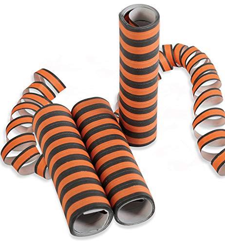 Halloween Luftschlangen, 3 Stück orange/schwarz *NEU bei Pibivibi©