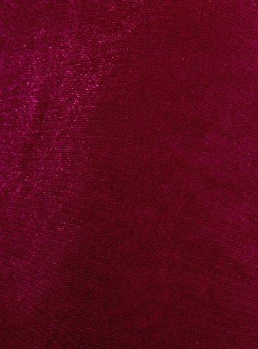 oodji Collection Damen Samtiger Gerader Rock Rot (4900N)