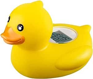 Niedliche Baby-Enten-Thermometer Baby-Bad Schwimmdock Ente-Spielzeug Badewanne Thermometer Wassertemperatur Tester Toy Thermometer f/ür Baby-Baden Gelb