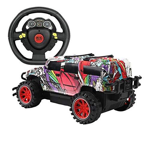 Ferngesteuertes Auto, RC Geländewagen High Speed SpielzeugautoRC Auto Spielzeugauto 1:18 Graffiti-Fernbedienung Auto Geländewagenmodell für Kinder