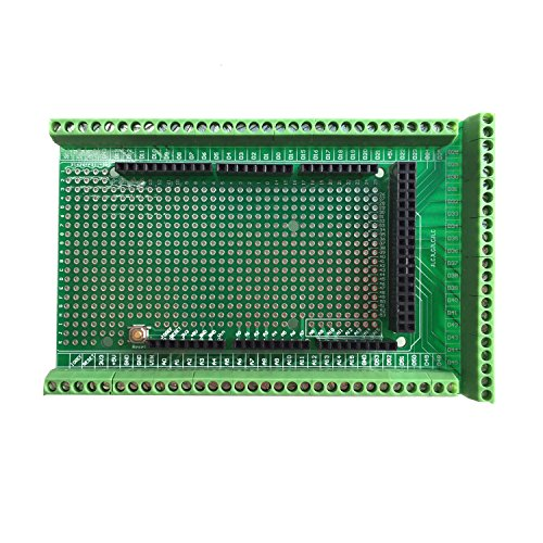 WINGONEER® Prototype Screw/Terminal Block Shield Board Kit para Arduino MEGA 2560 R3 DIY soldado