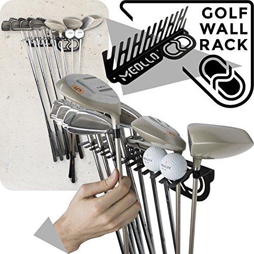 zer Wandhalterung (100% Stahl) (schwarz) (Golf-garage Organizer)