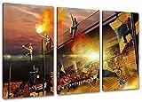 Ultras-Art Dortmund Away, 3-Teiler Format: 120x80, Bild