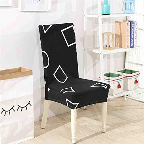 JYIP Floral Geometric Print Muster Spandex Elastic Stretch Hussen Esszimmerstuhl Abdeckung Hotel Küche Sitzbezug für Bankett 3