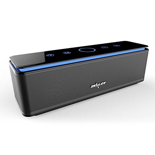ZEALOT S7B Bluetooth Lautsprecher mit Vier Treiber 26W Kraftvollem Klang Bluetooth Box, 24h Spielzeit, IPX5 Wasserfest, 10000mAh Power Bank, Freisprechfunktion & Eingebauten Mikrofon (Schwarz)