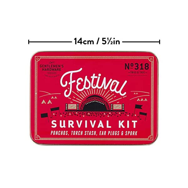 Gentlemen's Hardware GEN318 Festival Survival Kit, Red 3