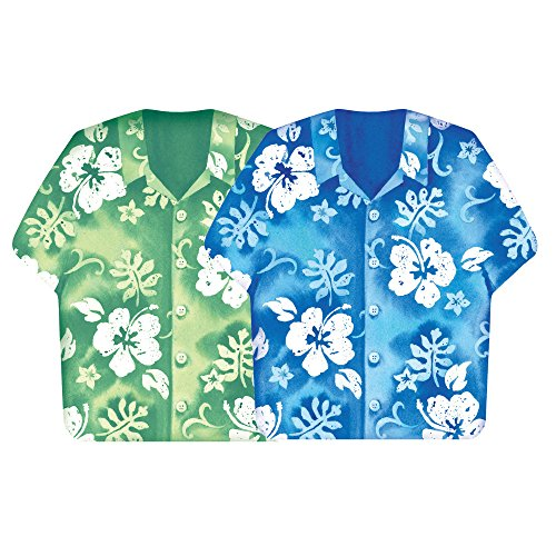 creative-converting-137423-bahama-breeze-shirt-shaped-lunch-napkins-assorted