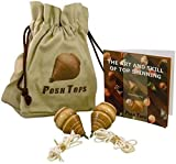 #2: Spinning Tops Classic Wood Peg Style Set