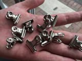 10 x MINI BULLDOG CLIPS LETTER CLIPS GRIP CLIPS CHROME 22mm