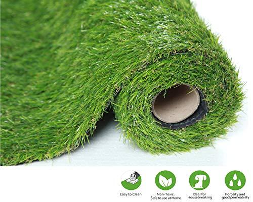 SUMC Herbe Artificielle extérieure faux tapis d'herbe / tapis vert haute densité herbe Fausse Pelouse Faux Gazon Pelouse de Chiens Animaux Astro Herbe Pour Jardin Hauteur de pile 30mm(1m*2m)