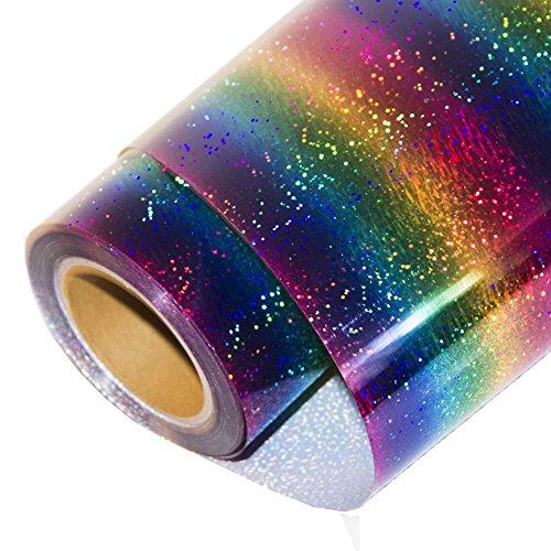 HOHO Pellicola olografica in vinile a trasferimento termico, termoadesiva, HTV, foglio di carta per t-shirt 50,8x 30,5cm