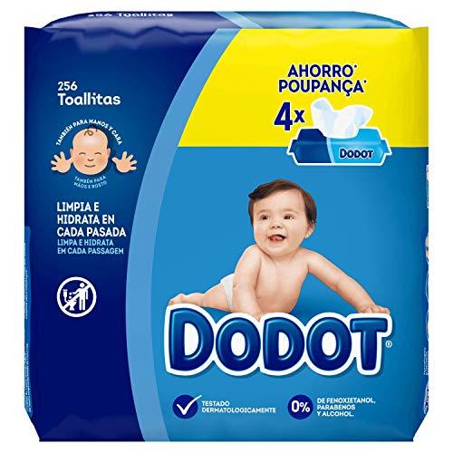 Dodot Toallitas para Bebé, 4 Paquetes de Unidades, 256 Toallitas