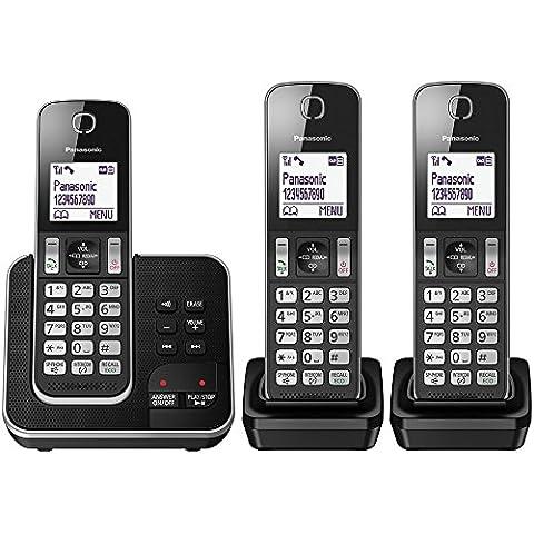 Panasonic kx-tgd320eb inalámbrico teléfono de la casa con Nuisance Call Blocker y contestador automático Digital (Pack de