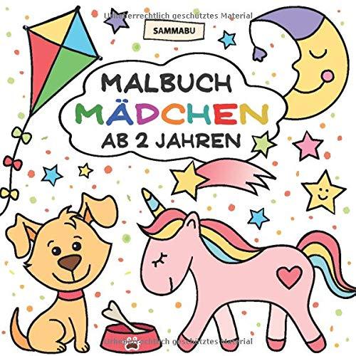 Malbuch Mädchen ab 2 Jahren: Mein erster Malspaß im großen Quadrat - Malbuch, Mädchen