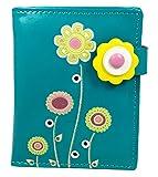 Shagwear portafoglio per giovani donne Small Purse : Diversi colori e design: (Colorato Giardino turchese / Colourful Garden)