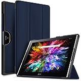 IVSO Acer Iconia Tab 10 (A3-A50) Hülle, Ultra Schlank Ständer Slim Leder zubehör Schutzhülle perfekt geeignet für Acer Iconia Tab 10 A3-A50 2017 Tablet PC(10,1 Zoll), Blau