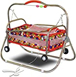 #4: Akshat Stroller Cradle With Net For Newborn Babies - Good Design And Space Efficient - Red