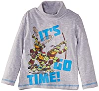 Nickleodeon Boys Ninja Turtles NH1270 Long Sleeve Top, Light Grey Melange, 3 Years
