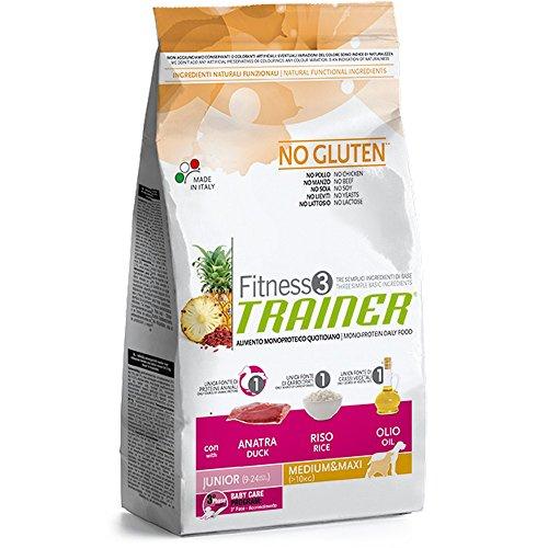 Trainer Fitness 3 No Gluten Junior Medium&Maxi Anatra Riso e Olio 3kg