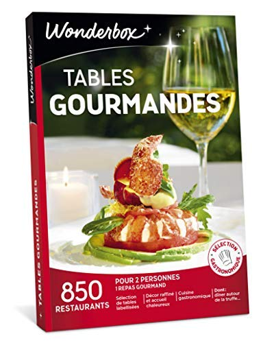 Wonderbox - Coffret cadeau couple - TABLES GOURMANDES - 850 restaurants renommés,...