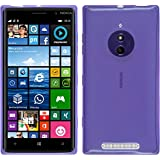 Funda de silicona para Nokia Lumia 830 - transparente púrpura - Cover PhoneNatic Cubierta + protector de pantalla