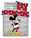 Artistic Fashionista * - Set di Biancheria da Letto con Copripiumino e federe, Motivo Personaggi Disney, Moderno, Mickey Mouse True Original, Doppio