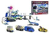 Majorette - 212050018038 - Créatix Playset Airport Electronique + 5 Véhicules