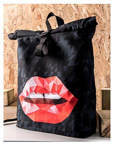 Kukubird Primavera/Estate Design Courier Escursionismo Palestra Scuola Messenger Zaino Triangle Lips
