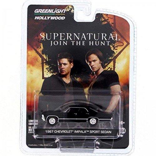 Supernatural Automodell - Chevrolet Impala Sedan 1967 (1/64) Sammelfiguren schwarz