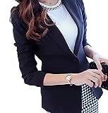 MK988 Women's One Button Solid Slim Formal Work Office OL Blazer Jacket Suit Coat