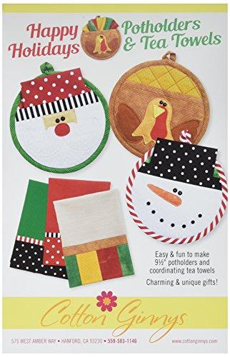 Baumwolle Ginny 's cgnhh175Happy Holiday Küchenhandschuh & Tea Handtücher Muster