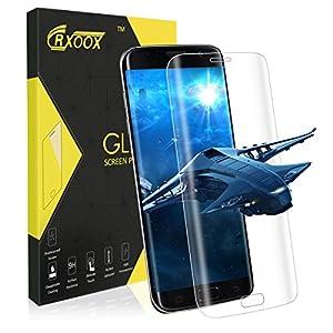 3D Pellicola Protettiva in Vetro Temperato per Samsung Galaxy S7 Edge,CRXOOX Screen Protector 9H Durezza,Spessore di 0.33mm,Resistente a Graffi, Trasparenza Totale