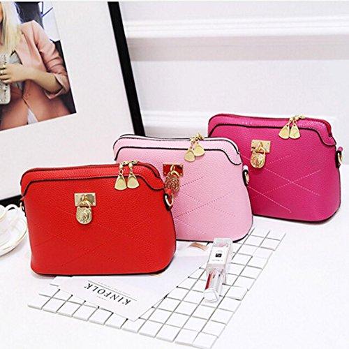 ec9c52f9df7e0 ... BZLine® Frauen Soft Taschen Handtaschen Crossbody Ladies Umhängetasche  Hot Pink