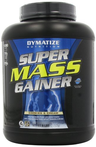 Dymatize Nutrition Super Mass Gainer, Cookies & Cream, 6-Pound by Dymatize Nutrition -
